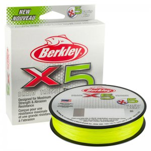 Šňůra Berkley X5 Flame Green 150m